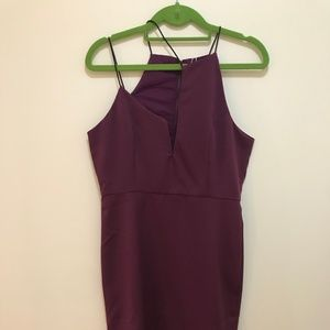 Purple Strappy Dress